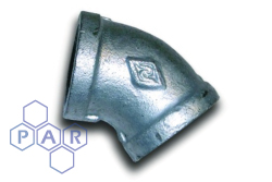 Galvanised Malleable Iron 45° Female x Female 45º BSPP