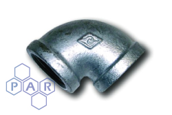 Galvanised Malleable Iron 90° Female x Female BSPP