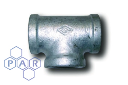 Galvanised Malleable Iron Female x Female BSPP Tee