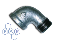 Galvanised Malleable Iron 90° Male x Female BSP