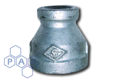 Galvanised Malleable Iron Reducer Female x Female BSPP