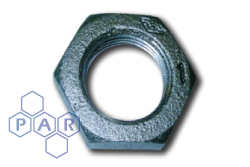 Malleable Iron Hexagon Back Nut Black