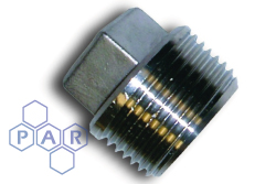 Stainless Steel Male BSP Plug - Square