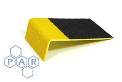 GRP Anti-Slip Stair Tread - Black with Yellow Edging