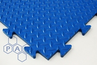Chequer Plate Floor Tiles - Blue