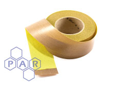 PTFE Coated Glass Cloth - Self-Adhesive Backed (Yellow)