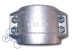 DIN Smooth Tail Coupling - Safety Clamps - Aluminium