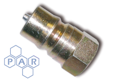 ISO A BSPP Coupling - Mild Steel Nipple