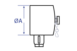 Aluminium Female Fire Coupling x Blank Cap Dimensional Drawing