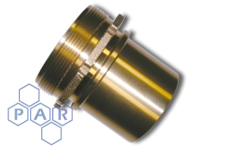 DIN Smooth Tail Coupling - Male BSPP - Brass