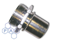 DIN Smooth Tail Coupling - Male BSPP - Stainless Steel