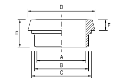 DIN Weld Liner - Metric - Dimensional Drawing