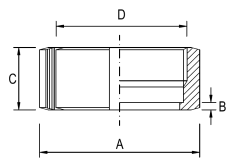IDF Slotted Round Nut - Dimensional Drawing