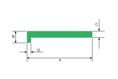 L-Profile Dimensional Drawing