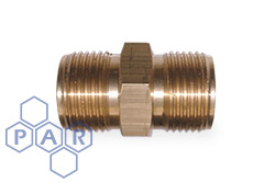 Brass Double Male Adaptor Coned