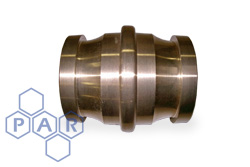 Gunmetal Male Fire Coupling x Male Adaptor
