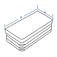 Rectangular Ribbed Insert - Dimensional Drawing