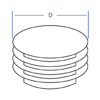 Round Ribbed Insert - Dimensional Drawing