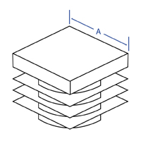 Square Ribbed Insert - Dimensional Drawing