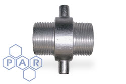 Lug Type Fixed Adaptor - Aluminium Male x Male BSPP