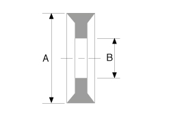 "Tri-Clamp Gaskets - ½"" and ¾"" Dimensional Drawing"